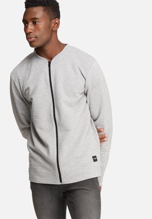 Only & Sons Baltimore Zip Cardigan Hoodies & Sweatshirts Grey