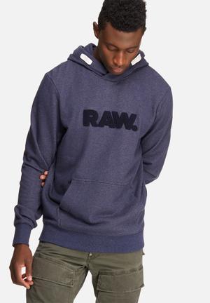 G-Star RAW Hodin Hoodie Hoodies & Sweatshirts Blue