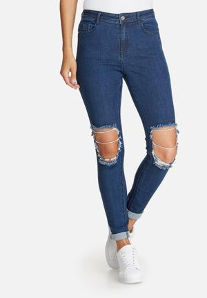 Anarchy authentic busted knee skinny jeans