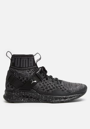 PUMA W Ignite EvoKNIT Metal Sneakers Black / Asphalt
