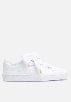 PUMA Basket Patent Sneakers  Puma White
