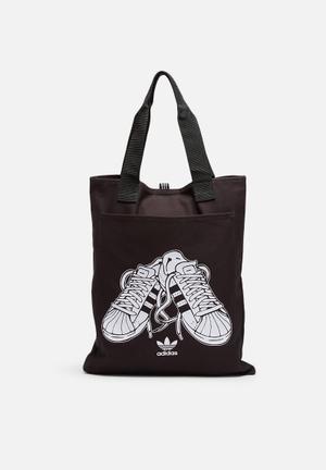 Adidas Originals Shopper Supergirl Bags & Purses Blackk & White