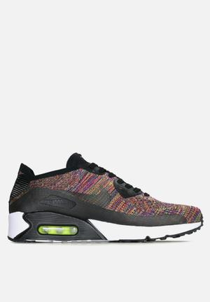 Nike Air Max 90 Ultra 2.0 Flyknit Sneakers Black / Bright Crimson / Paramount Blue / Volt