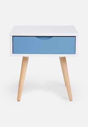 Eleven Past Blue Pedestal Desks & Tables Wood