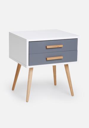 Eleven Past Charcoal Pedestal Desks & Tables Wood