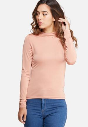 Dailyfriday Slinky Polo Neck T-Shirts, Vests & Camis Pink