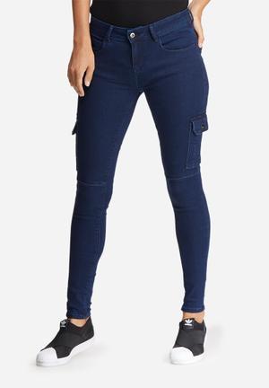 Dailyfriday Chloe Pocket Utility Pants Jeans Blue