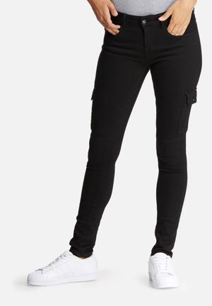 Dailyfriday Chloe Pocket Utility Pants Jeans Black