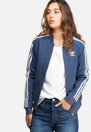Adidas Originals Supergirl Track Top Hoodies & Jackets Blue & White