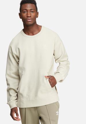 Adidas Originals Instinct Crew Sweat Hoodies & Sweatshirts Stone