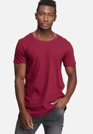 Basicthread Plain Scoop Tee T-Shirts & Vests Maroon