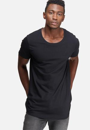 Basicthread Plain Scoop Tee T-Shirts & Vests Black