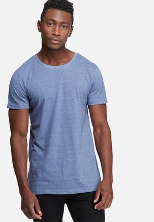 Basicthread Plain Scoop Tee T-Shirts & Vests Blue