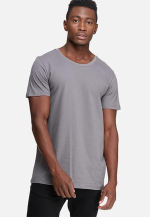 Basicthread Plain Scoop Tee T-Shirts & Vests Grey