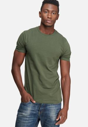 Basicthread Muscle Fit Tee T-Shirts & Vests Khaki