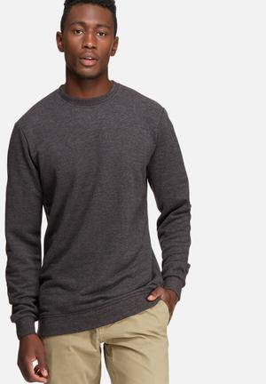 Only & Sons New Finlo Crew Sweat Hoodies & Sweatshirts Charcoal