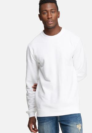 Only & Sons New Finlo Crew Sweat Hoodies & Sweatshirts White