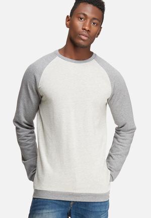 Only & Sons Gaaland Crew Sweat Hoodies & Sweatshirts Grey & Oatmeal