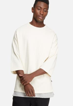Only & Sons Staz 3/4 Crew T-Shirts & Vests Cream