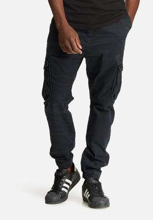 Sergeant Pepper Camo Slim Utility Pants Navy