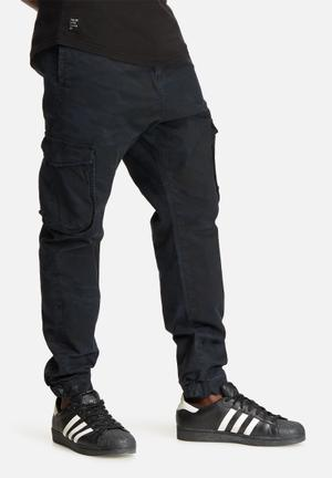 Sergeant Pepper Camo Slim Utility Pants Navy