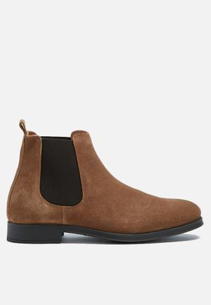 Selected Homme Oliver New Suede Chelsea Boot Tan