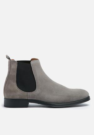 Selected Homme Oliver New Suede Chelsea Boot Grey