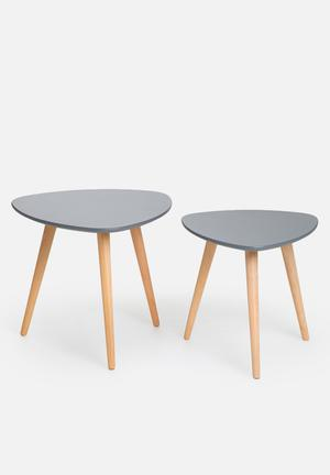 Eleven Past Charcoal Nesting Tables Wood