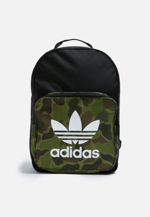Adidas Originals Classic Camo Bags & Wallets Black, White & Green