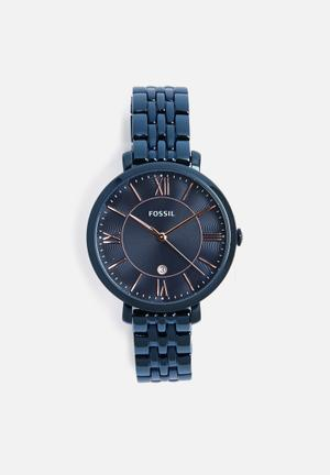 Fossil Jacqueline Watches Blue