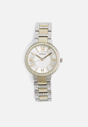 Fossil Virginia Watches Gold & Silver