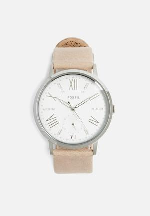 Fossil Gazer Watches Tan & Silver