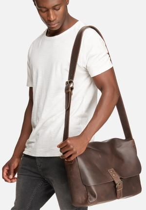 FSP Collection Carl Laptop Satchel Bags & Wallets Brown