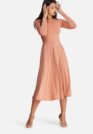 Dailyfriday Slinky Tie Back Dress Formal Dusty Pink