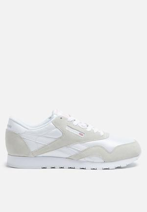 Reebok Classic Nylon Foundation Sneakers White/Light Grey