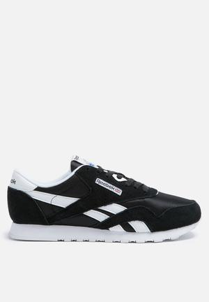Reebok Classic Nylon Foundation Sneakers Black/White