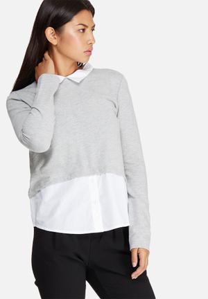 ONLY Sofia Blouse Grey & White