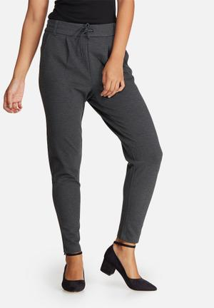 ONLY Poptrash Pants Trousers Dark Grey