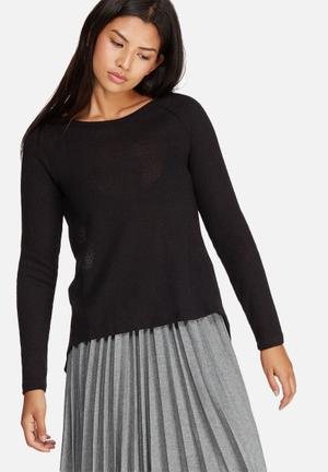 ONLY Rochelle Mix Top Knitwear Black