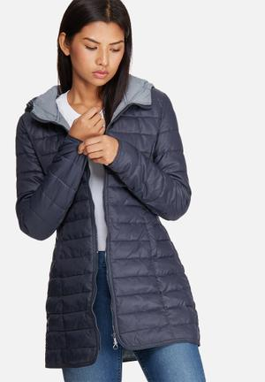 ONLY Tahoe Hooded Coat Jackets Blue