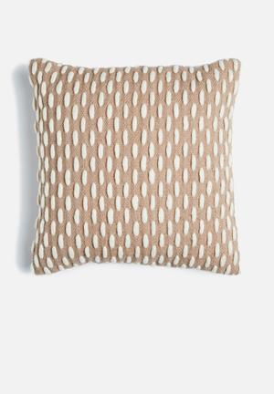 Linen House Vaughn Cushion Wool Front & Cotton Reverse