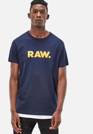 G-Star RAW Holorn Tee T-Shirts & Vests Navy