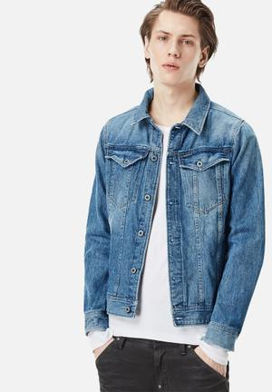 G-Star RAW 3301 Deconstructed 3D Slim Jacket Blue