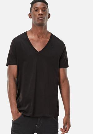 G-Star RAW Base V-neck 2pack Tee T-Shirts & Vests Black