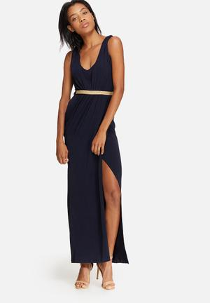 Dailyfriday V-neck Wrap Dress Occasion Navy