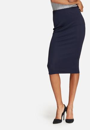 Dailyfriday Bodycon Pencil Skirt Navy