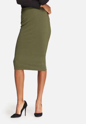 Dailyfriday Bodycon Pencil Skirt Olive