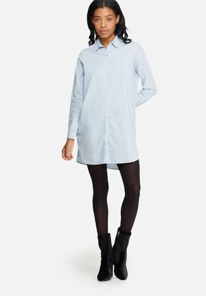 ONLY Anna Long Oversize Shirt Blue