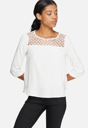 ONLY Wonder Top Blouses White