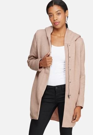 ONLY Sedona Light Melange Coat Jackets Pink